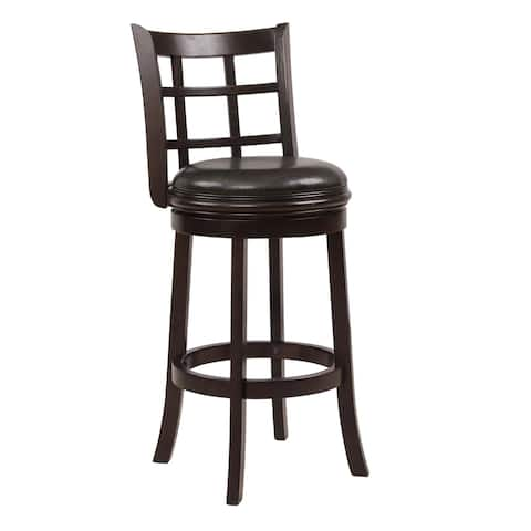 Traditional Brown Swivel 29 In. Bar Stool Set of 3