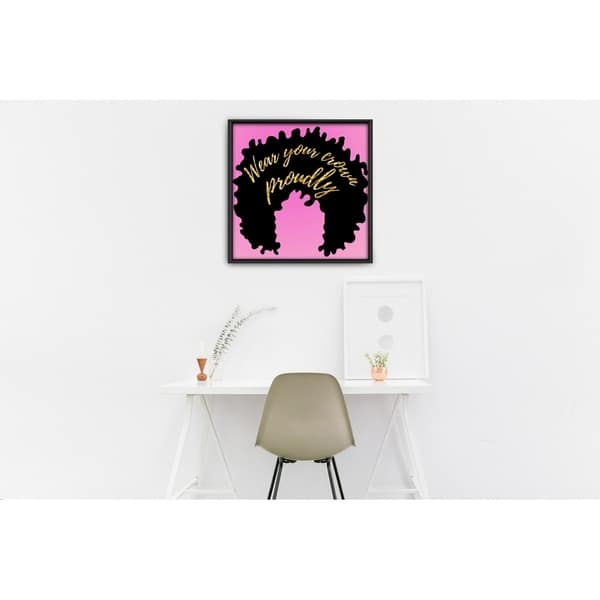Shop Star Home Decor Wear Your Crown By Julian Framed Canvas Print Overstock 29297067