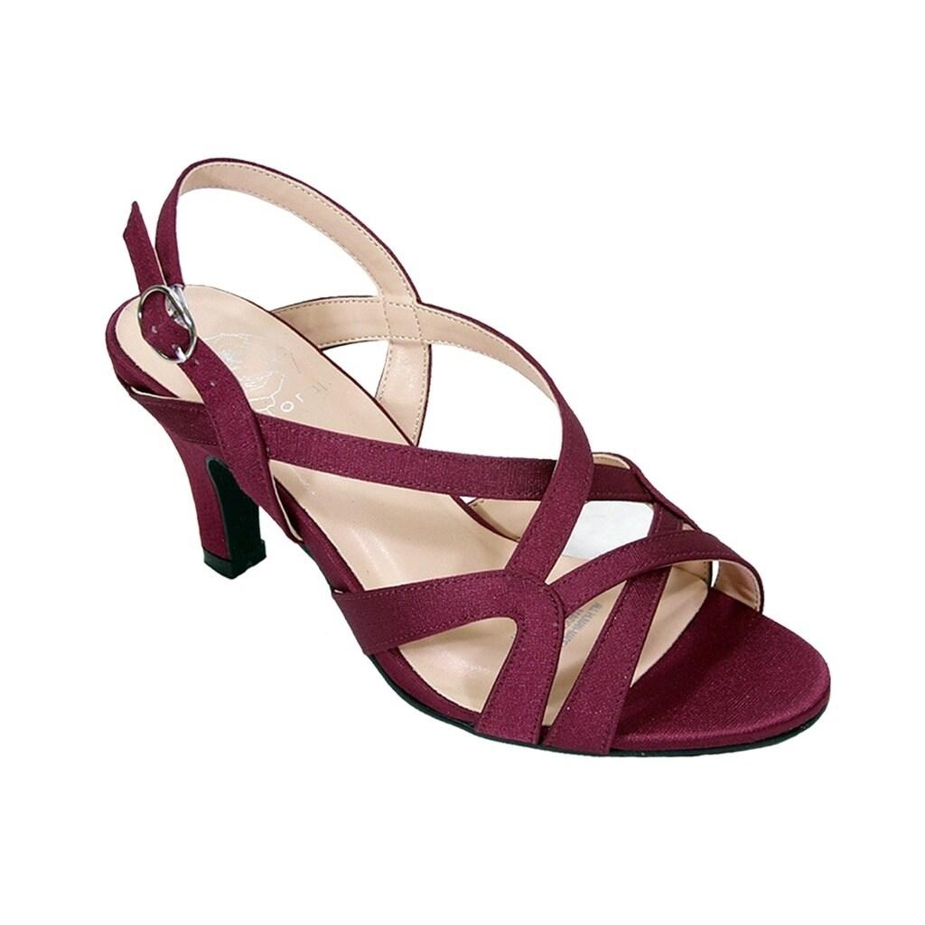 Wide Width Strappy Dress Heeled Sandals