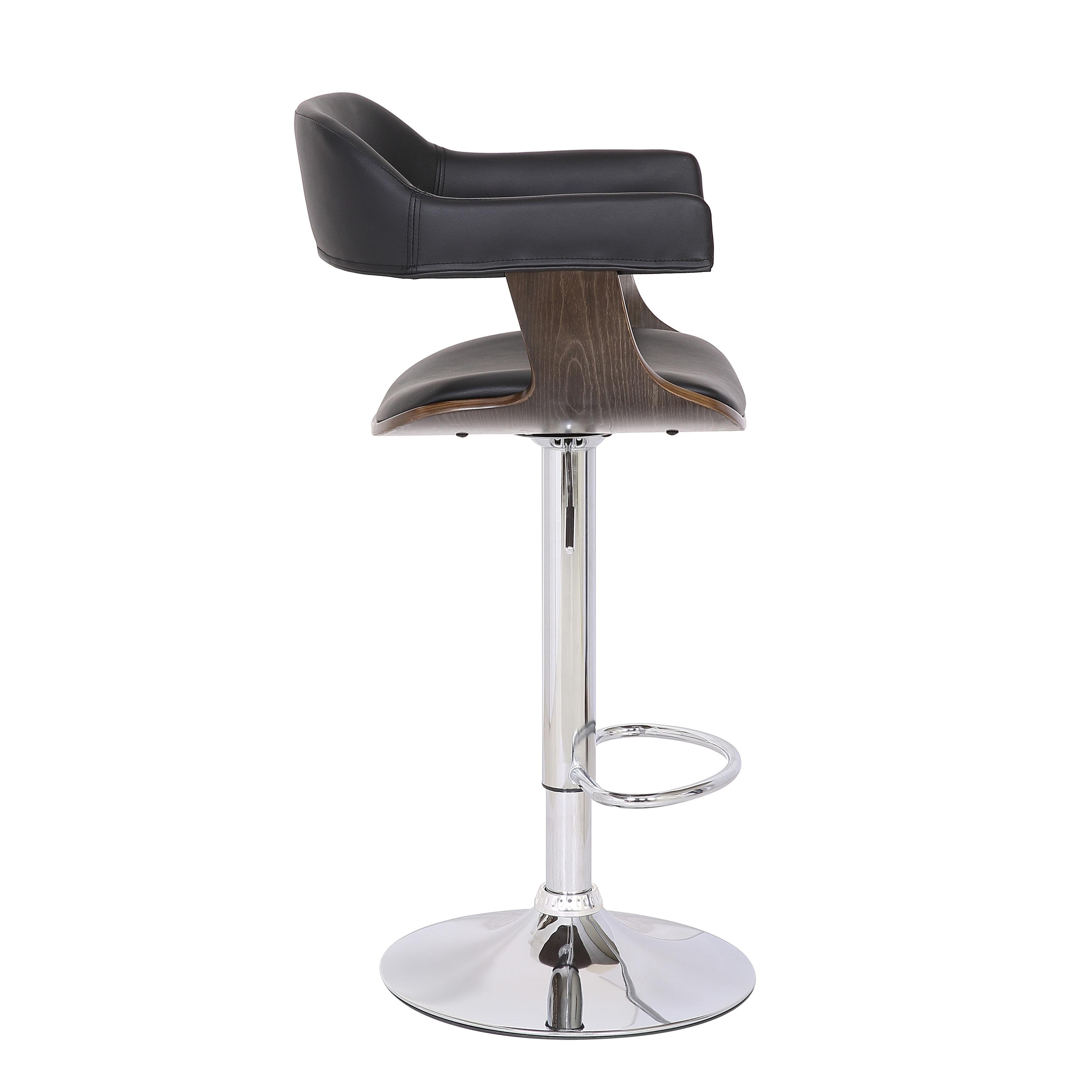 Shop Black Friday Deals On Contemporary Swivel Adjustable Oak Wood Barstool Set Of 3 Overstock 29297227
