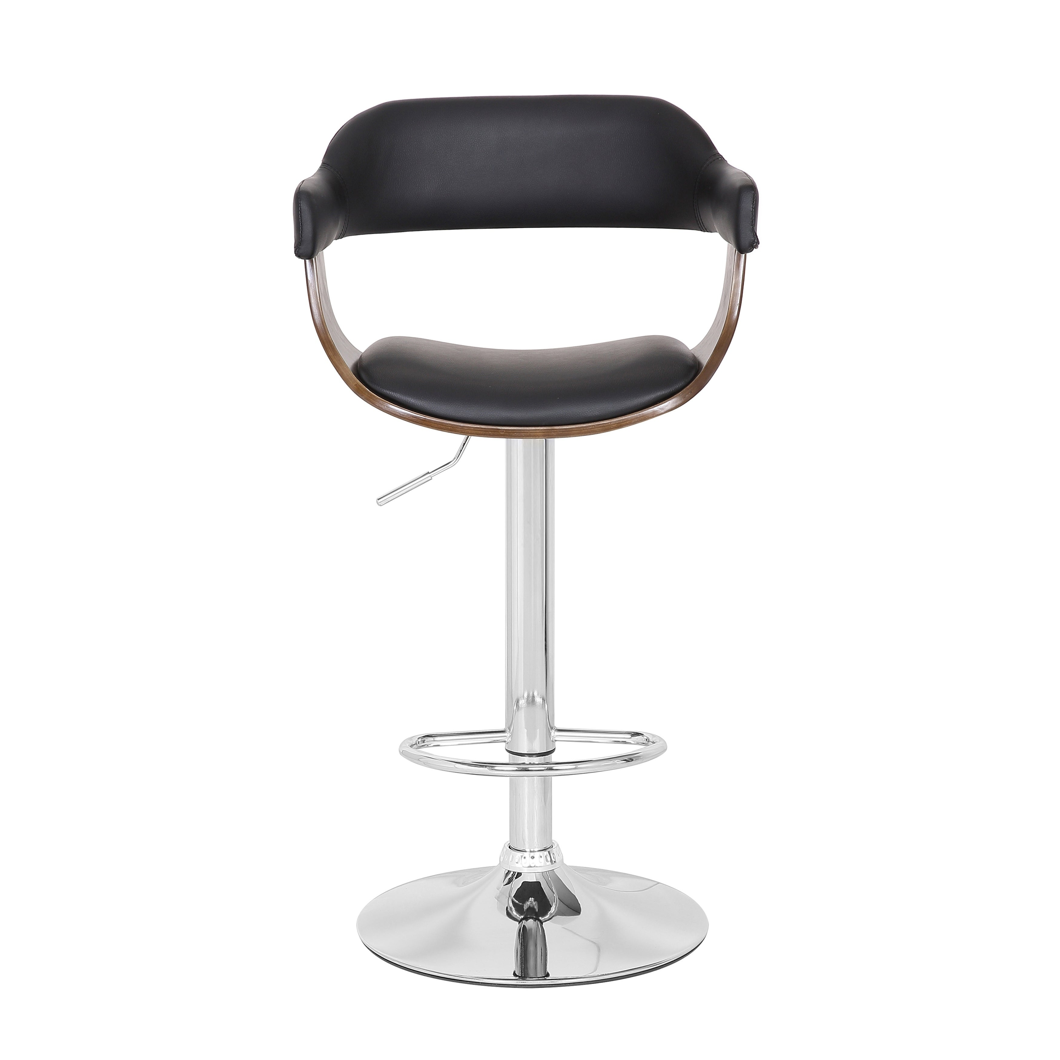 Picture of: Shop Black Friday Deals On Contemporary Swivel Adjustable Oak Wood Barstool Set Of 3 Overstock 29297227