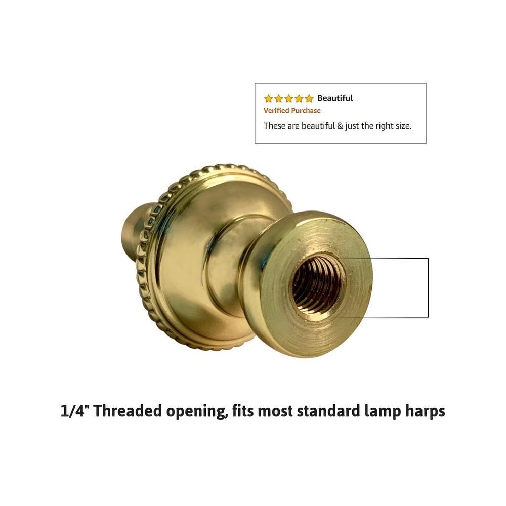 Beautiful Bronze Ball Contemporary Brushed Brass Finish Lamp Finial