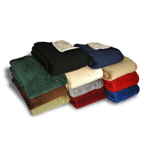Porch & Den Crestwood Micro Mink Sherpa Blanket - 50-inch x 60-inch