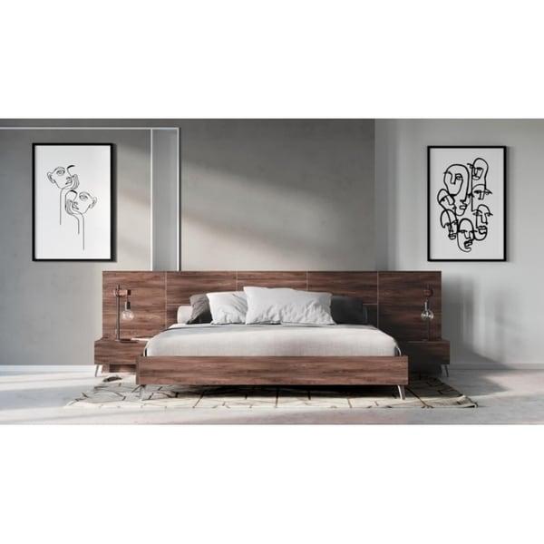 Nova Domus Brooklyn Italian Modern Walnut Bed. Opens flyout.