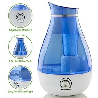 Ovente Ultrasonic Humidifier 2.5 Liter, Blue