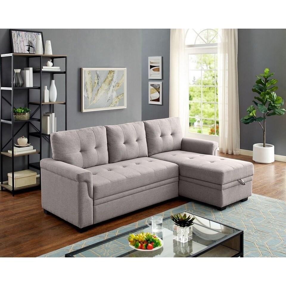 Pleasing Platte 2 Piece Right Hand Facing Sleeper Sectional Light Grey Short Links Chair Design For Home Short Linksinfo