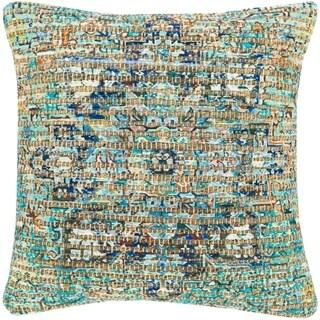 Cresco Woven Jute Boho Medallion 18-inch Throw Pillow Cover