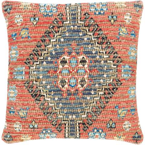 Cresco Woven Jute Tribal Medallion 18-inch Throw Pillow Cover