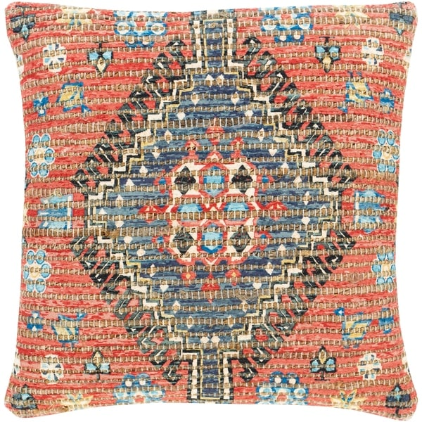 Cresco Woven Jute Tribal Medallion 18-inch Throw Pillow Cover. Opens flyout.