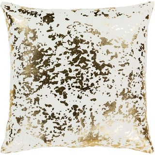 Siorus Gold Metallic Modern Throw Down or Poly Filled Throw Pillow