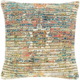Cresco Woven Jute Boho 18-inch Throw Down or Poly Filled Throw Pillow