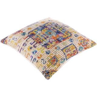 Cresco Boho Woven Jute 26-inch Floor Down or Poly Filled Throw Pillow