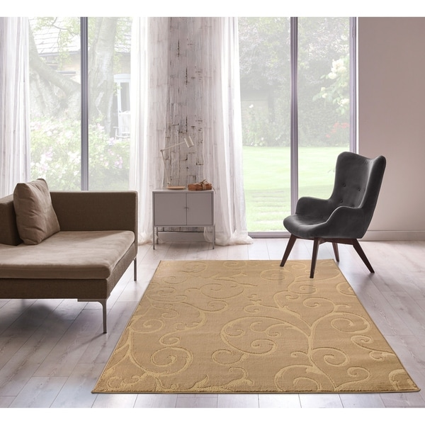 Bella Collection Floral Pattern Swirl Area Rug