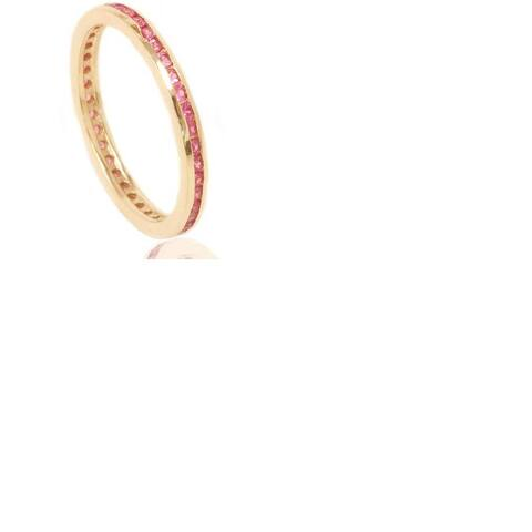 1/2ct Pink Sapphire Eternity Ring 14K Yellow Gold