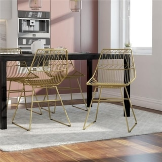 Link to CosmoLiving by Cosmopolitan Astrid Wire Metal Dining Chair Similar Items in Dining Room & Bar Furniture
