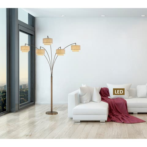 """Artiva Evita 81"""" LED Tree Arched Floor Lamp with Dimmer"""