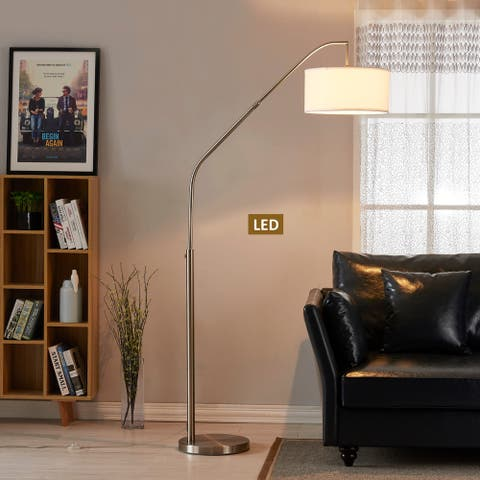 "Artiva USA Ariana 80"" Extendable LED Arched Floor Lamp"