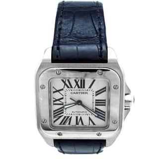 Pre-owned Medium Cartier Stainless Steel Santos 100 Watch - N/A - N/A