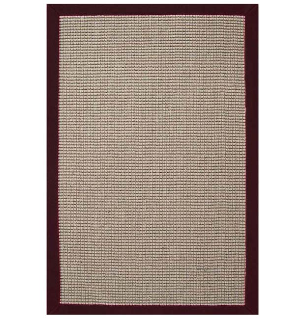 Cherry Brown Hand-woven Sisal Rug - 8'9 x 12'