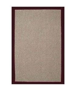 Cherry Brown Hand-woven Sisal Rug (8'9 x 12') - Thumbnail 0