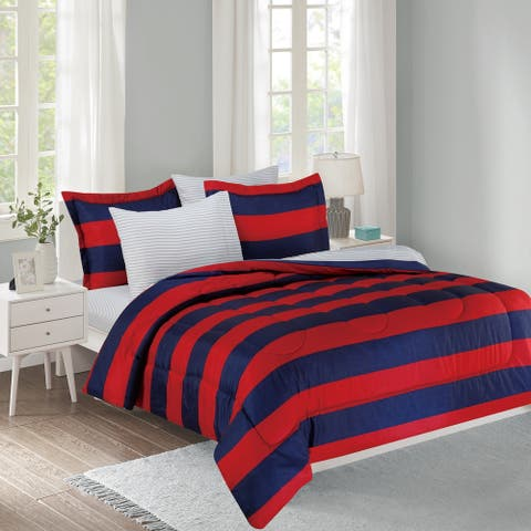 Show Ur Colors 11-Piece Bed in a Bag with Extra Sheet Set