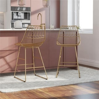 CosmoLiving by Cosmopolitan Astrid Wire Metal Counter Stool