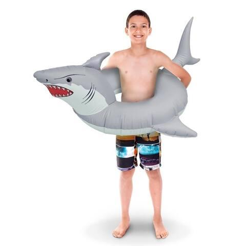 GoFloats 'Great White Bite' Jr Pool Float Party Tube, Stylish Floating for Kids