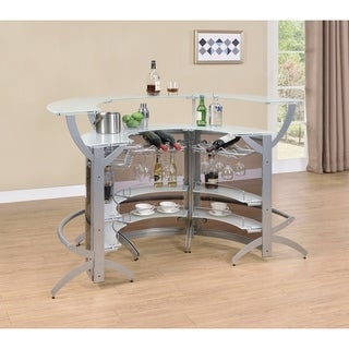 Kendall Sliver and Smoked Bar Unit (Set of 3)