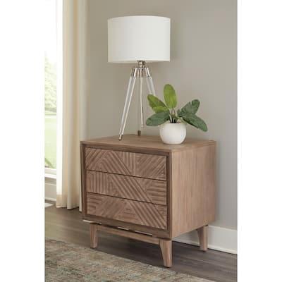 Racine Sandstone 3-drawer Nightstand