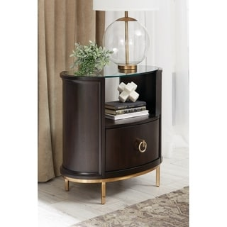 Ornette Americano 1-drawer Oval Nightstand