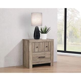 Salma Rustic Oak 3-drawer Nightstand