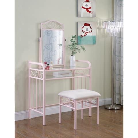 Natasha Powder Pink 2-piece Vanity Set