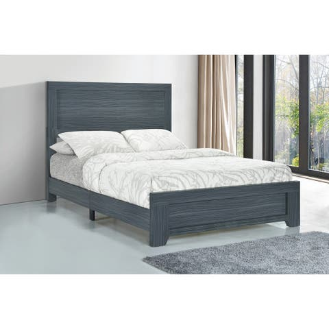 Trina Dark Grey Oak Panel Bed