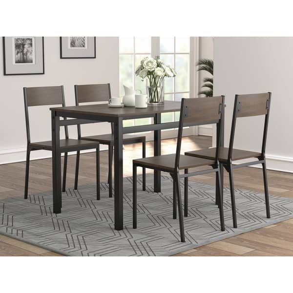 low priced c6203 4009d Brendan Dark Brown and Black Dining Table Set