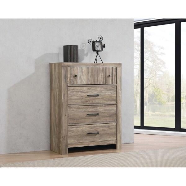 Salma Rustic Oak 4-drawer Chest