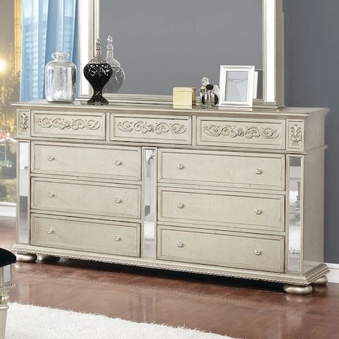 Louisville Metallic Platinum 9-drawer Dresser