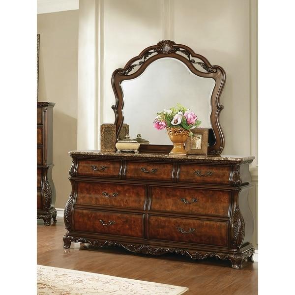 Raleigh Dark Burl 7-drawer Dresser