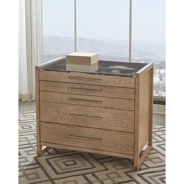 Tenley Grey Oak 5-drawer Chest