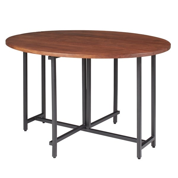 Sylvana Warm Brown and Black Oval Dining Table. Opens flyout.