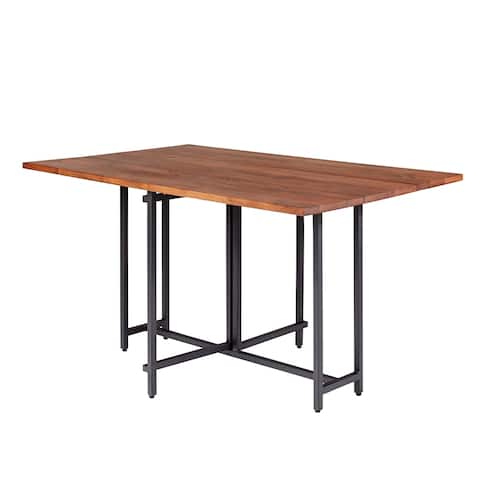 Carbon Loft Nancherla Warm Brown and Black Rectangle Dining Table