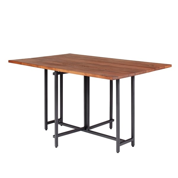 Carbon Loft Nancherla Warm Brown and Black Rectangle Dining Table. Opens flyout.