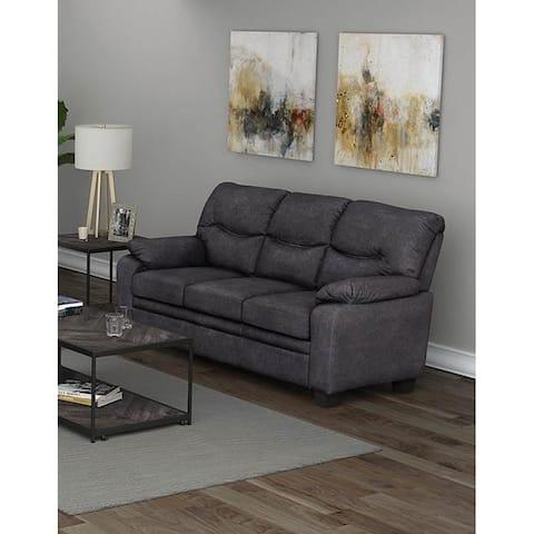 Priscilla Charcoal Pillow Top Arms Sofa