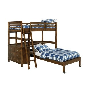 Tate Golden Brown Caster Twin Bed
