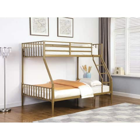 Coos Bay Matte Gold Twin/Full Bunk Bed
