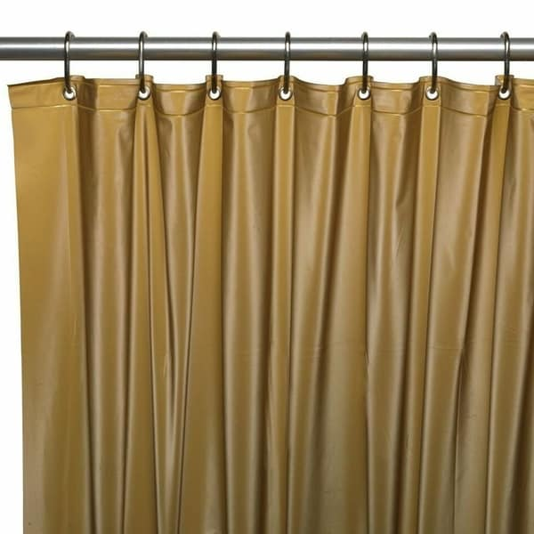 Shop Hotel Grade Heavy Duty Polyester Shower Curtain Gold