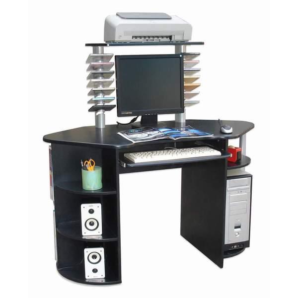 International Caravan Wood-top CPU Workstation Desk