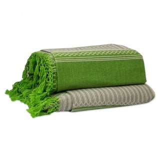 Link to Handmade Oaxaca Fields Zapotec Cotton King Bedspread (Mexico) Similar Items in Bedspreads