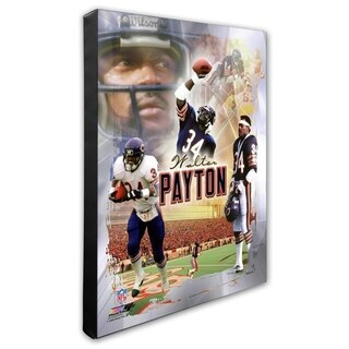 Walter Payton 16x20 Stretched Canvas