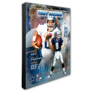 Troy Aikman 20x24 Stretched Canvas