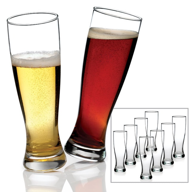 Anchor Hocking Grand Pilsner Beer Glasses (Set of 8)